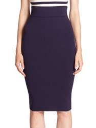 Milly High Waist Pencil Skirt Navy