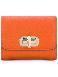 Michael Michael Kors Small Turn Lock Wallet Yellow Orange