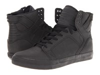 Supra Skytop Black Satin Tuf Men's Skate Shoes
