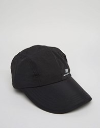 New Balance Lt Cap In Black Black