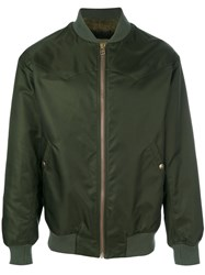 Mr And Mrs Italy Satin Bomber Jacket Acrylic Polyamide Polyester Alpaca M Green