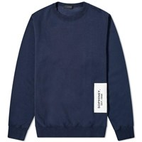 Sophnet. Back Stripe Panel Crew Sweat Blue