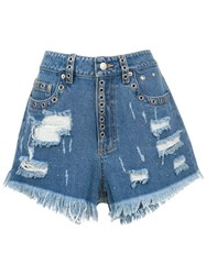 Andrea Bogosian Denim Shorts Blue
