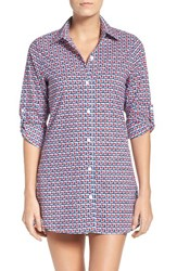 Tommy Bahama Women's Geo Graphy Cover Up Shirt