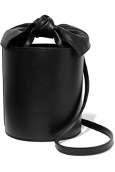 Ulla Johnson Sophie Mini Leather Bucket Bag Black