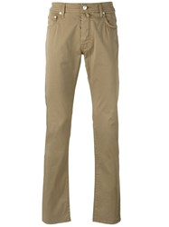 Jacob Cohen Tapered Trousers Nude Neutrals