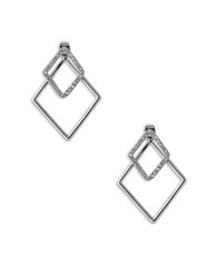Abs By Allen Schwartz Out Last Night Front Back Diamond Shaped Pierced Earrings
