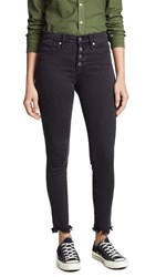 Madewell High Rise Skinny Jeans With Button Fly Black