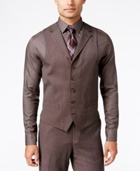 Sean John Men's Classic Fit Brown Pindot Vest