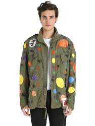 Patricia Field Art Fashion Scooter Laforge Hand Painted Parka