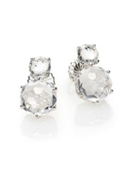 Ippolita Rock Candy Clear Quartz And Sterling Silver Two Stone Post Earrings Silver Clear