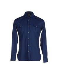 Siviglia Denim Shirts Shirts Men Dark Blue