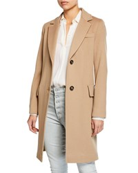 Fleurette Wool Two Button Tailored Coat Brown