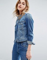 Noisy May Dizzy Denim Jacket Blue
