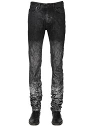 Diesel Black Gold 17Cm Washed And Coated Stretch Denim Jeans
