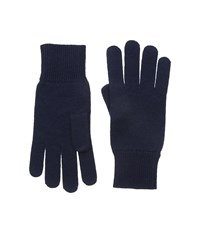 Lacoste Green Croc Cashmere Jersey Gloves Navy Blue Extreme Cold Weather Gloves