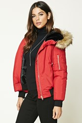 Forever 21 Faux Fur Lined Hooded Jacket