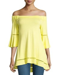 Neiman Marcus Off The Shoulder Tunic Sky
