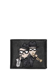Dolce And Gabbana Grained Leather Wallet W Music Patch