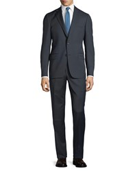Hickey Freeman Two Piece Wool Suit Navy