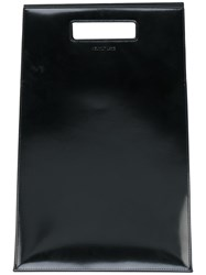 Helmut Lang Lunch Bag Patent Leather Black