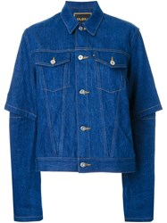 G.V.G.V. Open Elbow Denim Jacket Blue