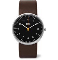 Braun Bn002 Stainless Steel And Leather Watch Brown
