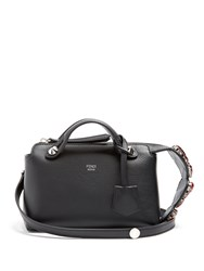 Fendi By The Way Mini Embellished Leather Cross Body Bag Black