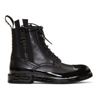 Dolce And Gabbana Black Immersion Finish Summer Boots
