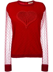Piccione.Piccione Piccione. Piccione Heart Jumper Red