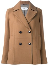 Closed 'Gambler' Peacoat Brown