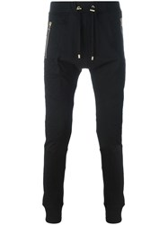 Balmain Quilted Panel Track Pants Black