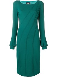 Class Roberto Cavalli Fitted Midi Dress Green