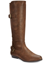 White Mountain Finalist Tall Boots Women's Shoes Cognac
