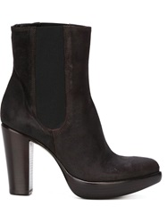 Rocco P. High Chunky Heel Boots Brown
