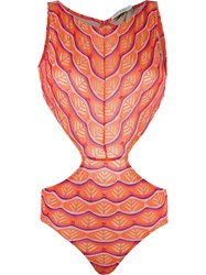 Cecilia Prado Panelled Swimsuit Yellow Orange