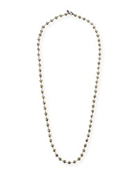 Margo Morrison Long Pyrite And Chain Necklace