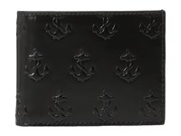 Jack Spade Embossed Anchor Slim Billfold Black Bill Fold Wallet