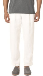 Club Monaco Pleated Linen Pants Blanc De Blanc