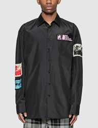 Raf Simons Oversized Shirt With Patches Blue