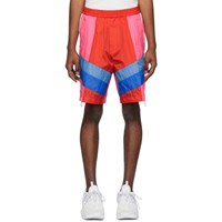 Dsquared2 Red And Pink Nylon Zipper Shorts