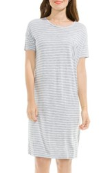 Vince Camuto Women's Two By Liberty Stripe T Shirt Dress