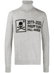 Philipp Plein 20Th Anniversary Turtleneck Sweater Grey