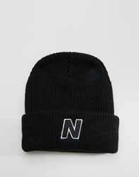New Balance Compo Beanie Ii Bobble Black