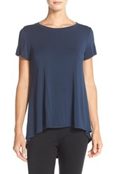 Women's Hard Tail Open Back Crewneck Tee Indigo