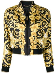 Versace Fitted Bomber Jacket Black