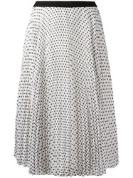 I'm Isola Marras Polka Dot Pleated Skirt White