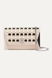 Akris Anouk Woven Textured Leather Clutch Beige