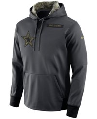 Nike Men's Dallas Cowboys Salute To Service Hoodie Anthracite