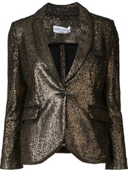 Sonia Rykiel Single Breasted Fitted Jacket Metallic